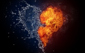 Fire-Water-Heart-Love-Pain-One-Heart-Pulsarmedia-Wallpaper